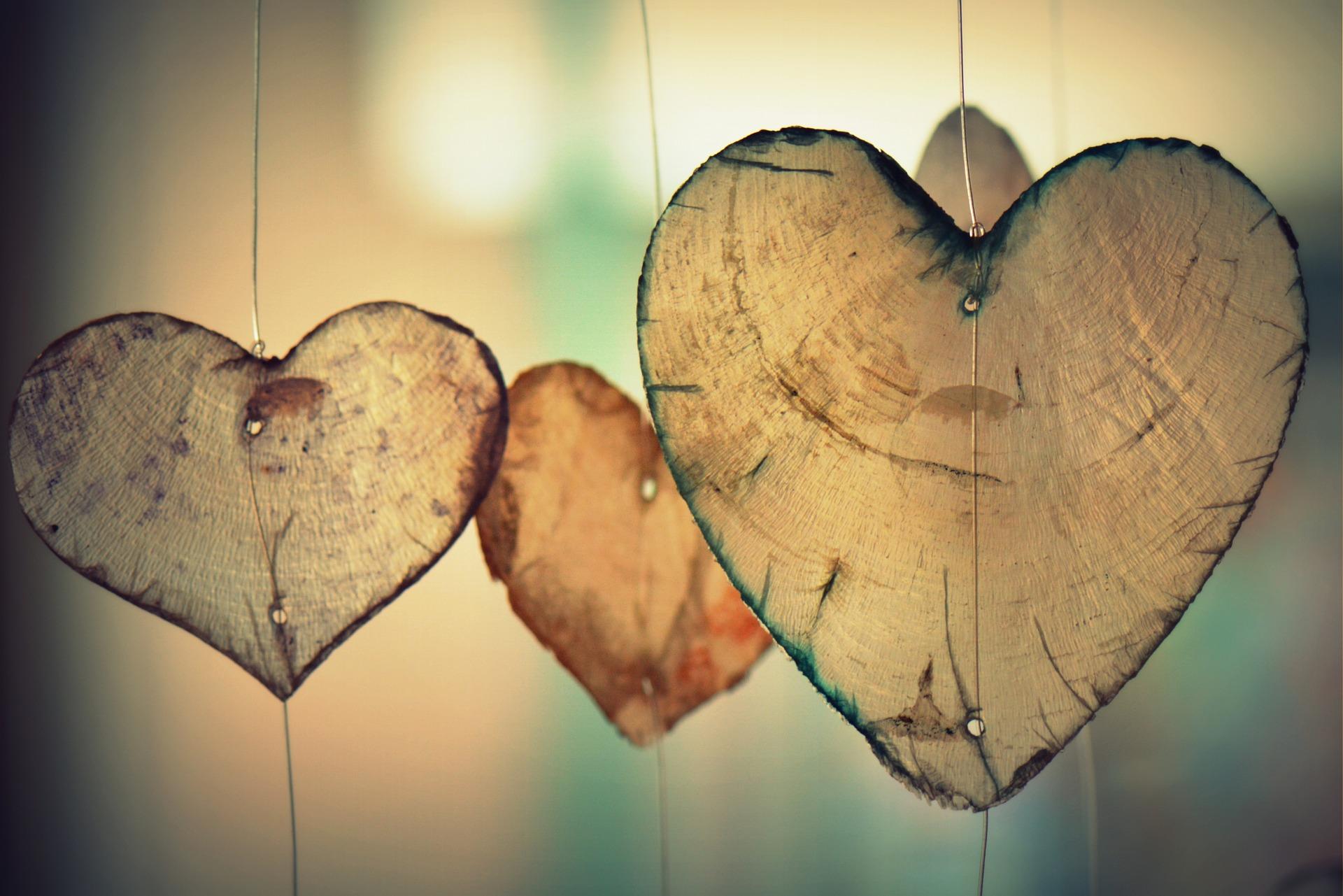 Image représentant des coeurs en bois